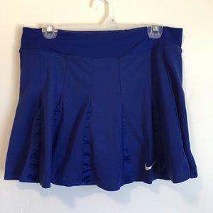 Blue Nike Ruffle Tennis Skirt